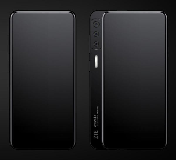 中兴全面屏新机曝光:近乎100%屏占比、侧滑设计