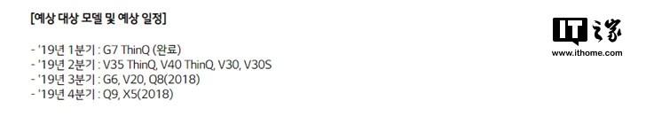 LG手机安卓9 Pie更新计划:V35/V40 ThinQ最快Q2升级
