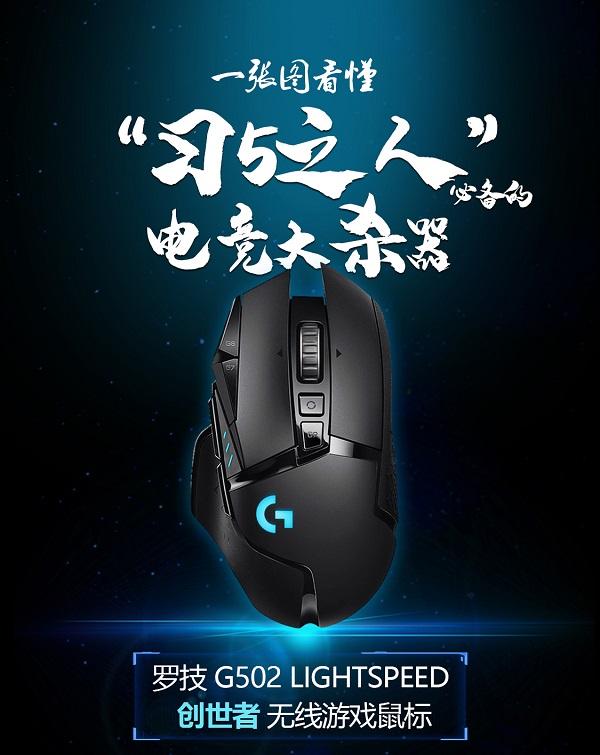 创世者登场!一张图看懂罗技G全新旗舰无线游戏鼠标