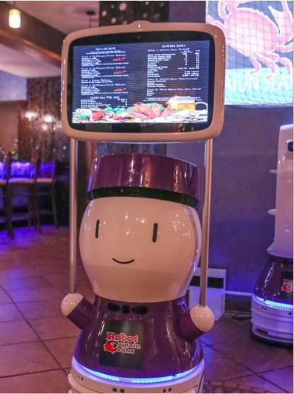 擎朗送餐机器人落地美国餐厅 机器人餐厅再度爆红