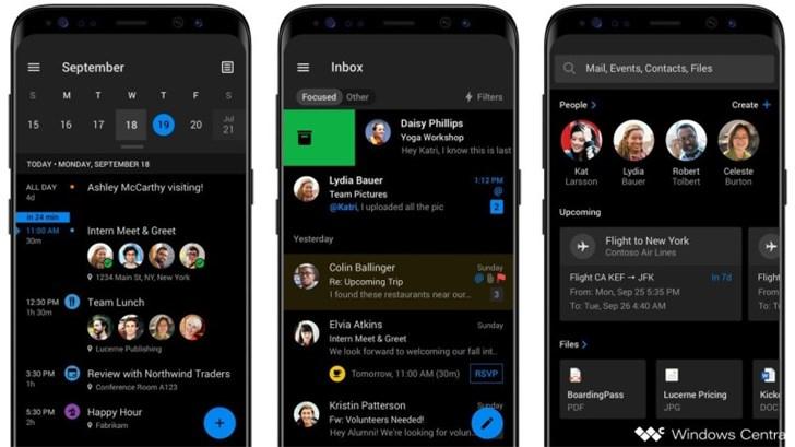 微软Outlook App更新曝光:黑暗模式要来了