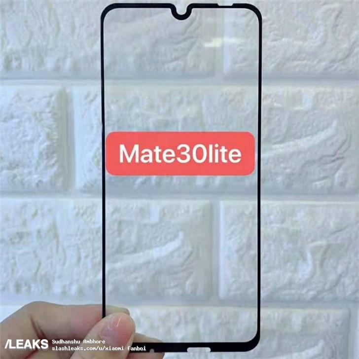 华为Mate 30 Lite钢化膜曝光:水滴屏