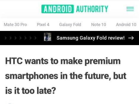 外媒:HTC将再推高端手机 是否为时已晚?