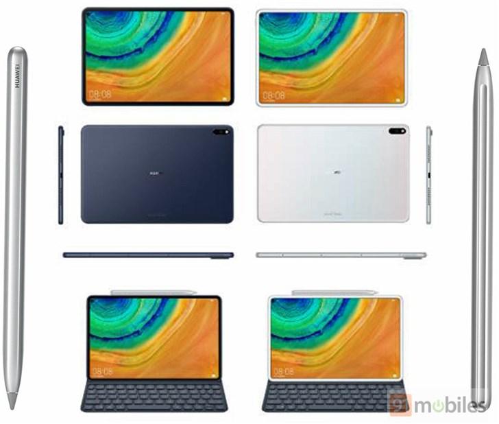 华为全新MediaPad M7渲染图释出:首度采用打孔屏设计
