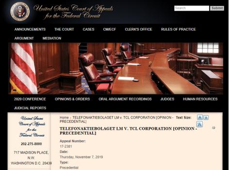 TCL再胜诉,爱立信专利二审被判无效