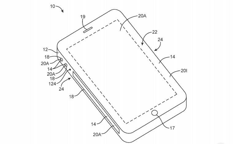 Apple 侧屏虚拟按键和立体空间音频技术专利曝光