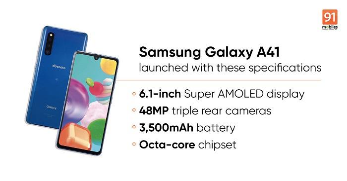 三星Galaxy A41将于六月在日本上市