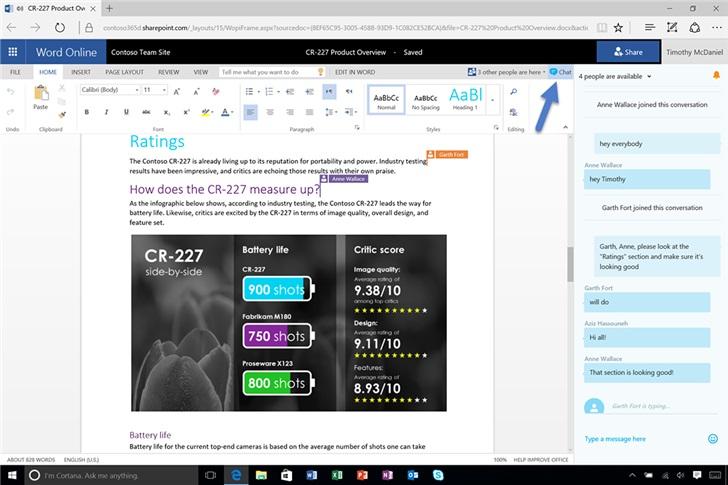 微软砍掉所有 Office 365 应用协同编辑聊天访问权限