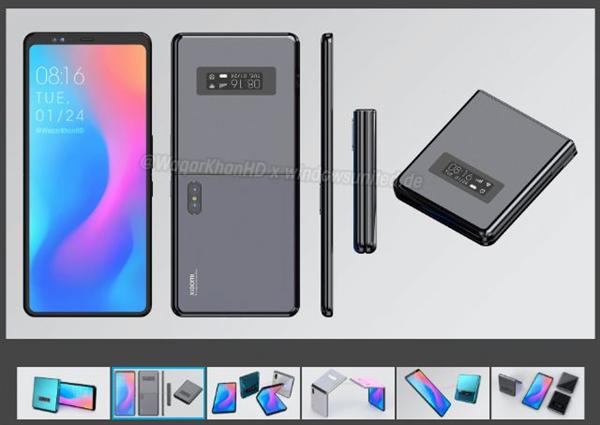 小米开发并量产可折叠手机:上下折叠 类似Galaxy Z Flip
