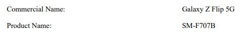 Galaxy Z Flip 5G 版发布在即:型号确认,已现身三星认证文件