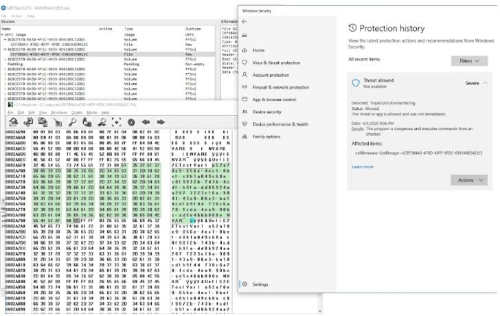 微软 Win10 Defender 杀毒新增 UEFI 扫描器:可检测固件攻击
