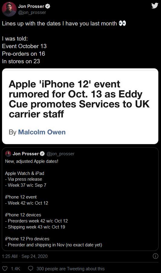 iPhone12会在10月13日四款齐发布吗?未必!