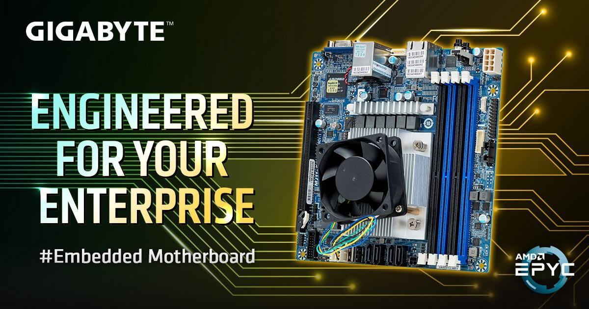 技嘉推出 AMD EPYC 嵌入式主板:双千兆网口、mini-ITX、拓展能力不俗
