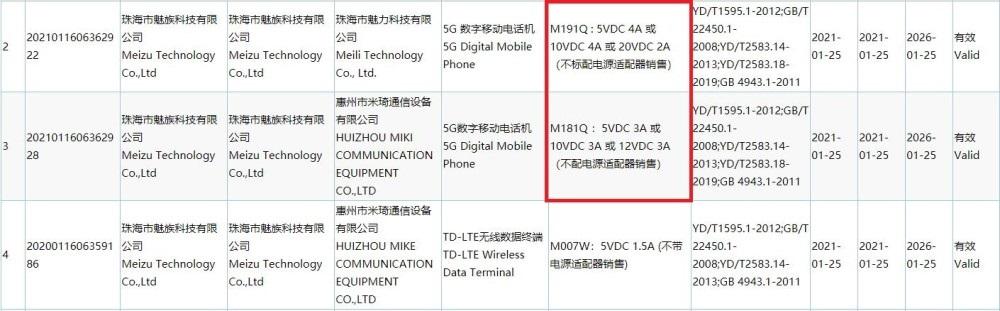 魅族新手机入网:将不配电源适配器销售
