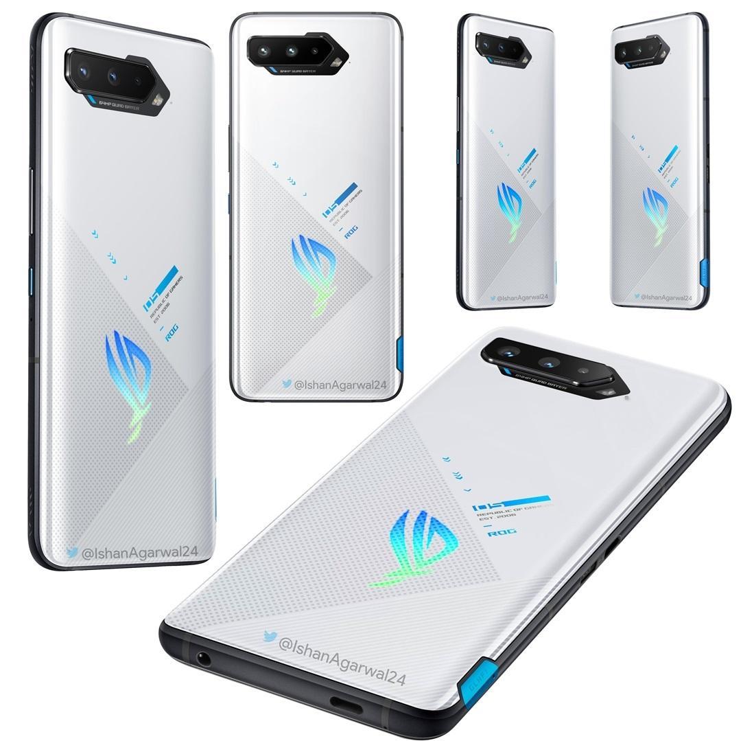 华硕 ROG 游戏手机 5 官方渲染图曝光:新增银白配色,配备 18GB 大内存