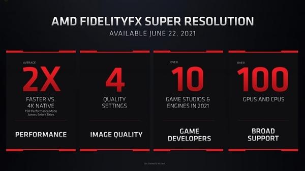 4K游戏性能提升200% AMD确认FSR技术不支持NV显卡