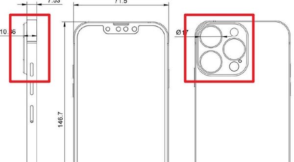 iPhone 13 Pro系列设计图曝光:硕大的后摄简直劝退