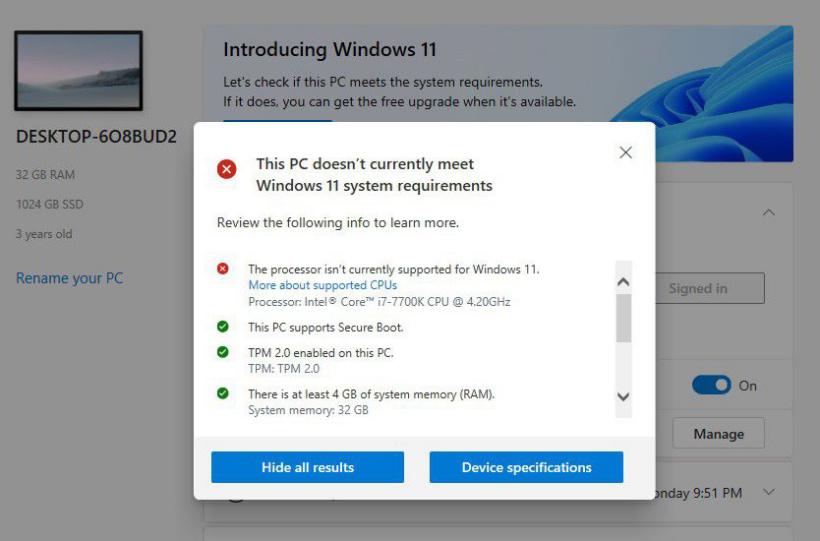 Win11 不会拒绝老电脑,但微软可能会让你签署弃权书