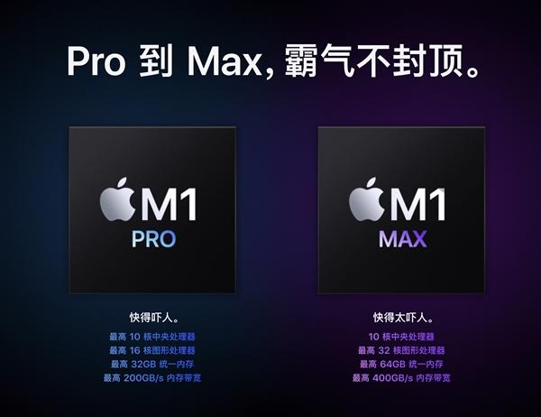 暴力58核心!苹果M1 Max跑分来了:多核性能比M1快2倍