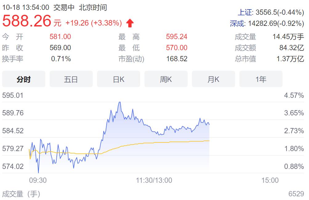 宁德时代股价创历史新高:总市值达 1.37 万亿